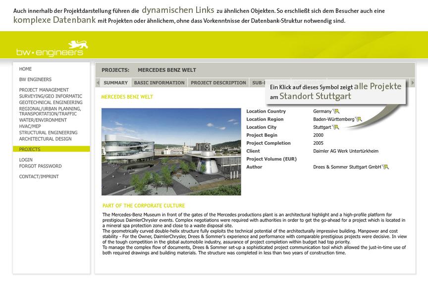 Automatisch aktualisierte Projektdarstellung im PIA-Display durch Einbindung einer PIA-DAtenbank in die TYPO3-Homepage