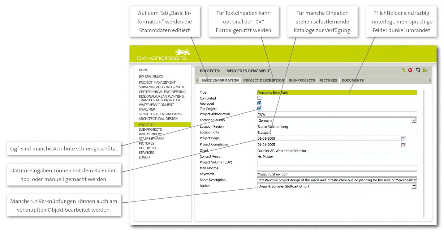 PIA-Editor Funktionen im Detail